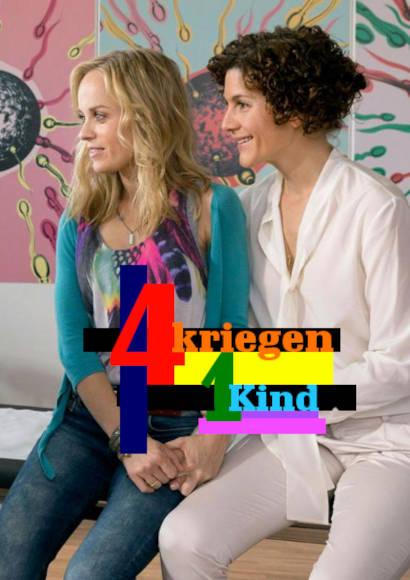 Vier kriegen ein Kind   TV-Film 2014 -- lesbisch, schwul, Regenbogenfamilie, Homosexualität im Fernsehen, schwu/lesbischer TV-Tipp, Stream